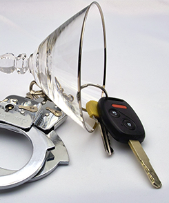 Drinking Glass, Car Keys and Handcuffs